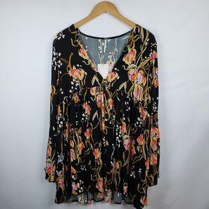 Free People Womens Boho Mini Dress Size Medium
